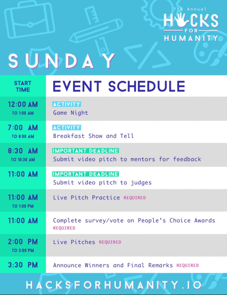 Sunday's Agenda Image